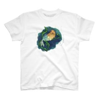 モルモットのマーメイド T-shirts
