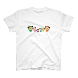 HappyGorillaのハッピーゴリラ 犬 T-shirts