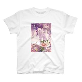 藤紫 T-shirts