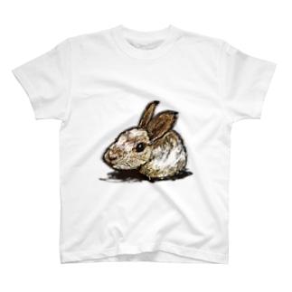 座り兎-200703 T-shirts
