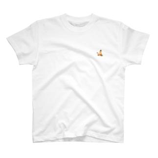 もぐら2段くん 左胸ver  T-shirts