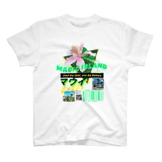 ハワイのマウイ島のストリートシャツ T-shirts