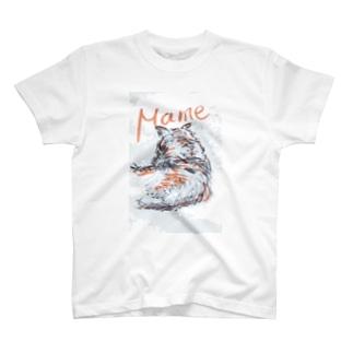 うちの柴犬、まめ T-shirts