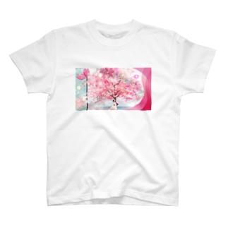 桜下青春 T-shirts