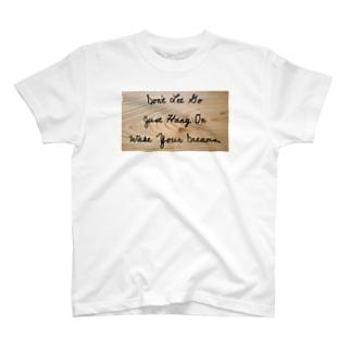 木目ナチュラル T-shirts