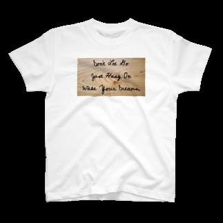 WOOD-BEARの木目ナチュラル T-shirts