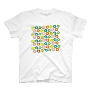カラフルお花さん T-shirts