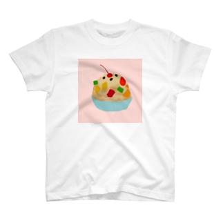 シロクマかき氷(ピンク) T-shirts