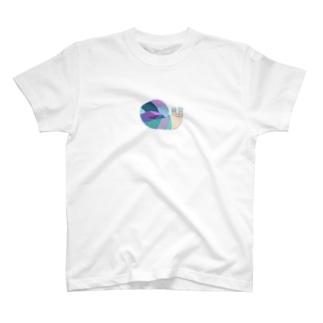 あじさい色のねむいかたつむり T-shirts