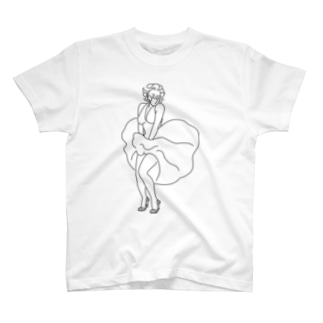 マスク姿のマリリン・モンロー T-shirts