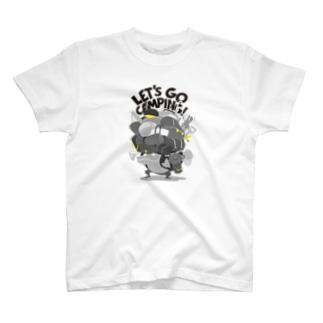 キャンプ行こう! Black T-shirts
