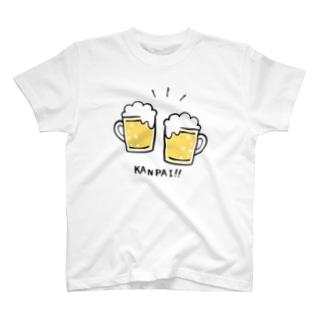 ビールでKANPAI!! T-shirts