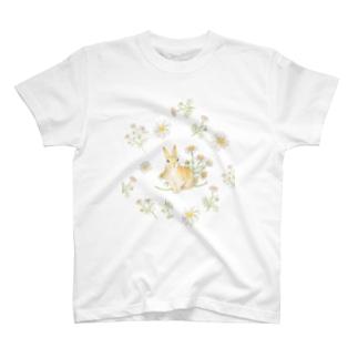 カモミールとうさぎ T-shirts