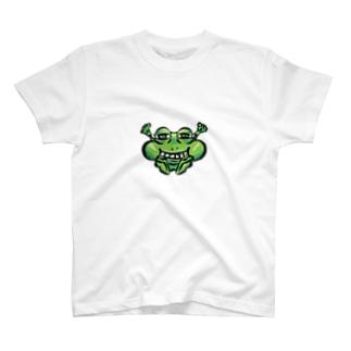 ほほえむ不愉快なカエル T-shirts