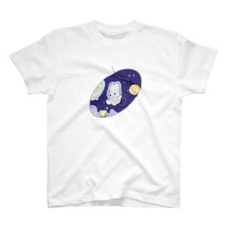 宇宙うさぎ T-shirts
