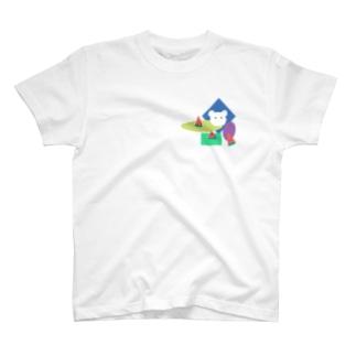 しろくまとスイカ T-shirts
