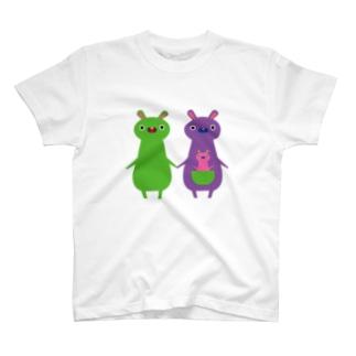 カンガルー親子 T-shirts