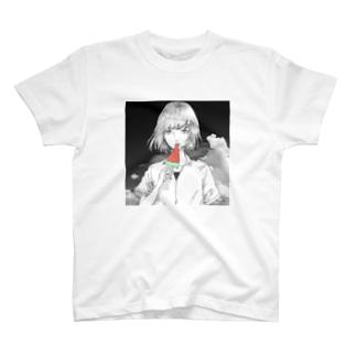 氷菓ちゃん 白黒ver T-shirts