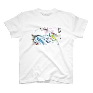 ガラケーごはん T-shirts