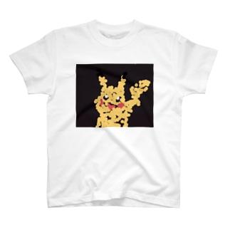Toon-Hirokiの点描チュウ黒 T-shirts