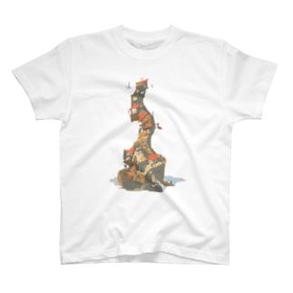 積み木の建物 T-shirts
