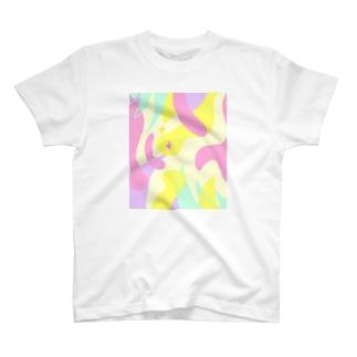 星が散歩するうねうね道 T-shirts