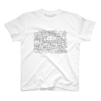 印欧語族系統図(黒字) T-shirts