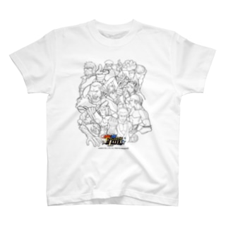 Fighting Layer - Black Line Drawing (黒い線画) T-shirts