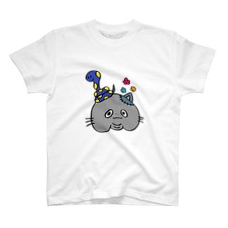 ヘビとネコゾンビ T-shirts