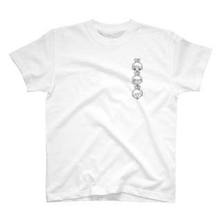 あやめっこ(かぶ/黒文字) T-Shirt