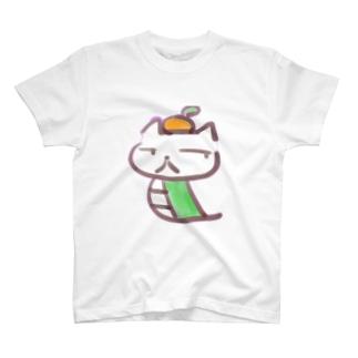 みかんの載ったいぬへび T-shirts