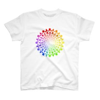 ひろがる虹のしずく T-shirts
