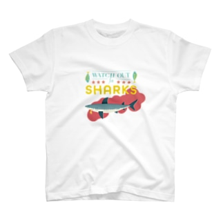 WATCH OUT FOR SHARKS ホワイトバック T-shirts