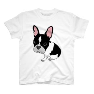 フレンチブルドッグ ガン見 T-shirts