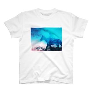 星空を駈ける騎士 T-shirts