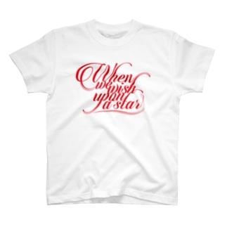 赤いwhen we wish upon a star  T-Shirt