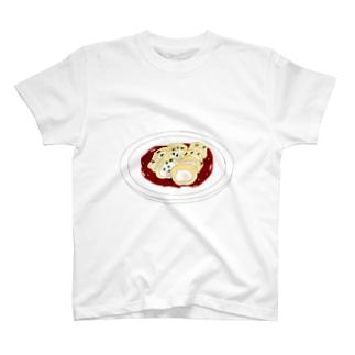 かしわ天〜たるジュレ(パプリカ風味)withわさわさ葉っぱ T-shirts