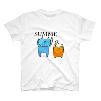 SUMMERネコ T-shirts