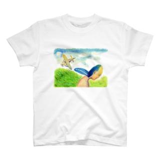 みみなりTシャツ ヒコウキ T-shirts