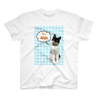 白黒猫の空腹妄想 T-shirts