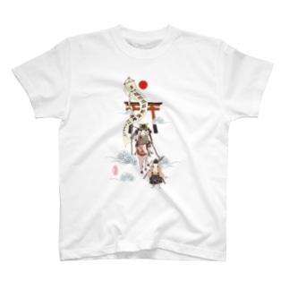 うさぎ大将悪疫退散 T-shirts