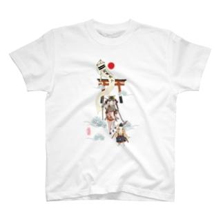 うさぎ大将武運長久 T-shirts