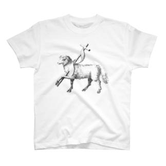 おひつじ座(Aries)_BlackPrint T-shirts