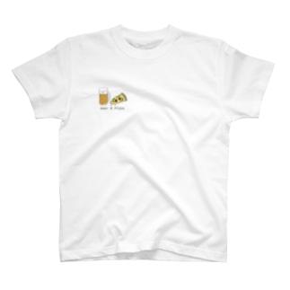 ビール派のピザTシャツ T-shirts