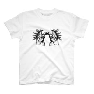 ふたご座(Gemini)_BlackPrint T-shirts
