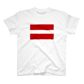 赤が二本 T-shirts