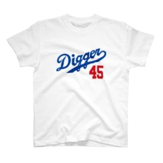 Digger45回転 T-shirts