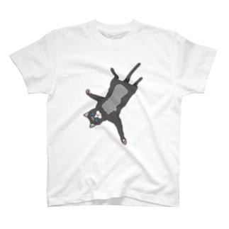猫寝そべり T-shirts