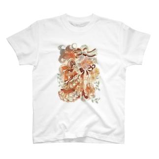 花束と乙女 T-shirts