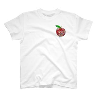 和柄リンゴ T-shirts